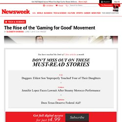 The Rise of the 'Gaming for Good' Movement