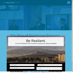 The Rise of Resilience Planning