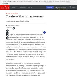 Peer-to-peer rental: The rise of the sharing economy