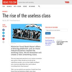 The rise of the useless class