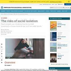 The risks of social isolation