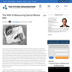 The ROI of Measuring Social Media ROI