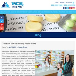 The Role of Community Pharmacists