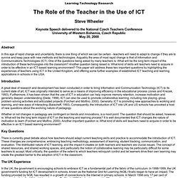The Role of the Teacher in ICT...
