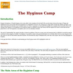 The Roman Army: The Hyginus Camp
