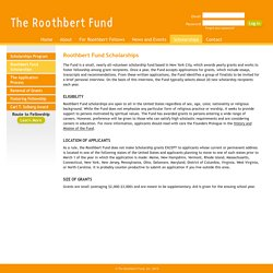 The Roothbert Fund, Inc.