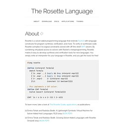 The Rosette Language
