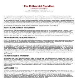 The Rothschild Bloodline