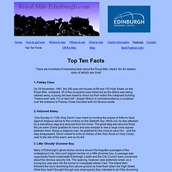The Royal Mile Edinburgh - Top Ten Facts