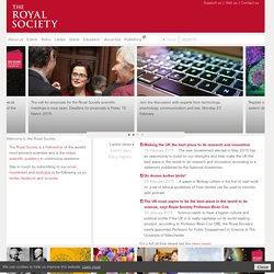 The Royal Society: Welcome