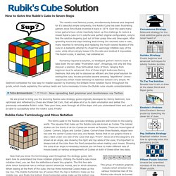 The Rubiks Cube Solution - StumbleUpon