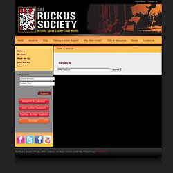 The Ruckus Society : Nationwide Capacity-Building for Occupy Together