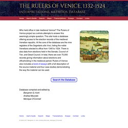 The Rulers of Venice, 1332-1524