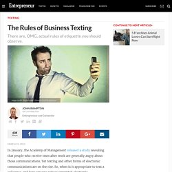 The Rules of Business Texting