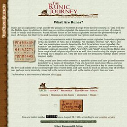 The Runic Journey