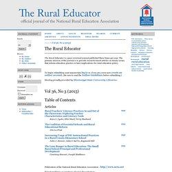 The Rural Educator