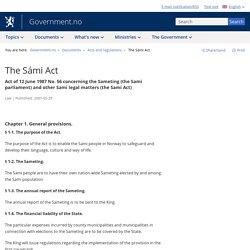 The Sámi Act