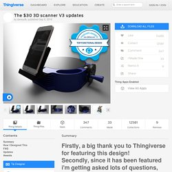 The $30 3D scanner V3 updates by daveyclk