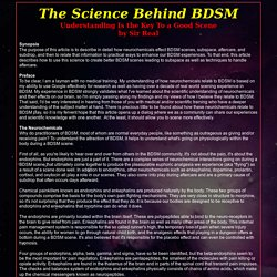 The Science Behind BDSM