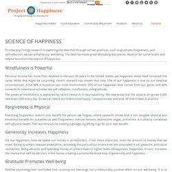 The Science of Happiness - Project Happiness