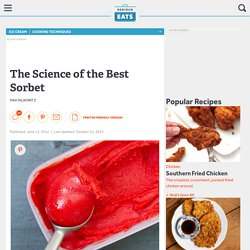 The Science of the Best Sorbet