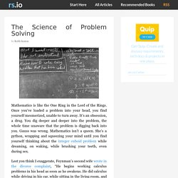 The Science of Problem Solving - rs.io