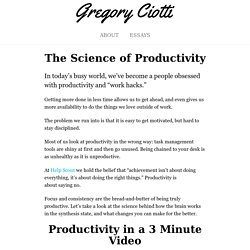 The Psychology of Getting More Done (in Less Time)