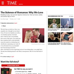 The Science of Romance: Why We Love