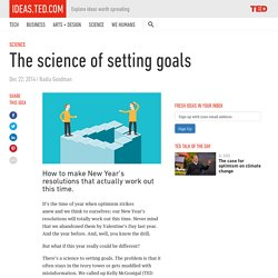 The science of setting goals