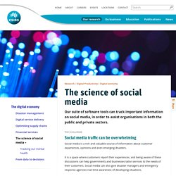 The science of social media - CSIRO