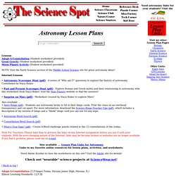 Middle School Astronomy Worksheets - Pics about space