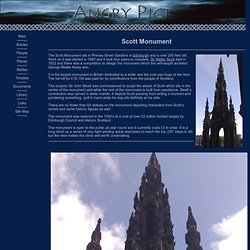 The Scott Monument in Edinburgh