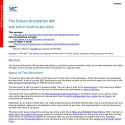 The Screen Orientation API