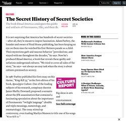 The Secret History of Secret Societies