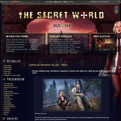 The Secret World - TSW JeuxOnline
