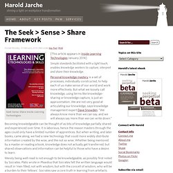 The Seek > Sense > Share Framework