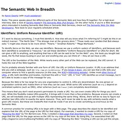 The Semantic Web In Breadth