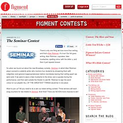 The Seminar Contest | Figment Blog