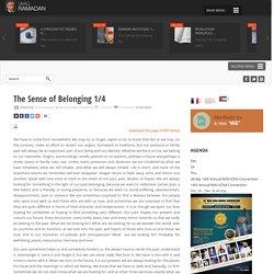 The Sense of Belonging 1/4