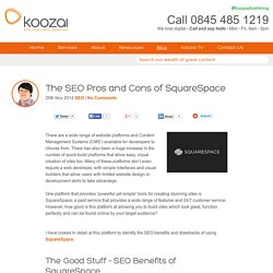 The SEO Pros and Cons of SquareSpace