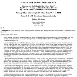 "The ""Shut Door"" Documents"
