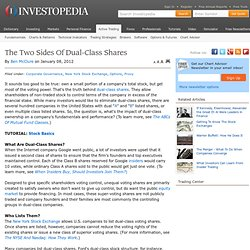 The Two Sides Of Dual-Class Shares