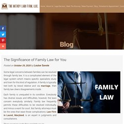 The Significance of Family Law for You