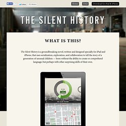 The Silent History — What is This?