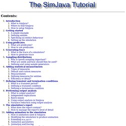 The SimJava Tutorial