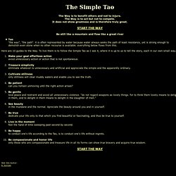 The Simple Tao (Simple Taoism)
