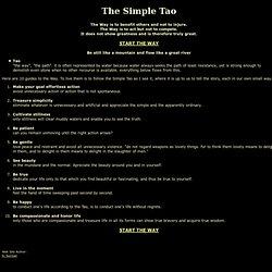 simple tao