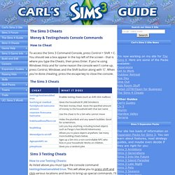 Sims 3 Cheats & Codes for PC - CheatCodes.com