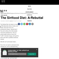 The Sirtfood Diet: A Rebuttal