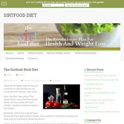The Sirtfood-Rich Diet - SIRTFOOD DIET